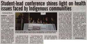 """Student-lead conference shines light on health issues faced by Indigenous communities"""