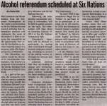"""Alcohol referendum scheduled at Six Nations"""