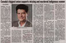 """Canada's Biggest Union Supports Missing and Murdered Indigenous Women"""