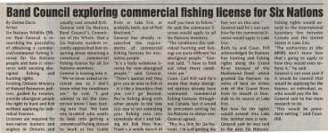 """Band Council exploring commercial fishing license for Six Nations"""