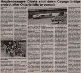 """Haudenosaunee Chiefs shut down Cayuga bridge project after Ontario fails to consult"""