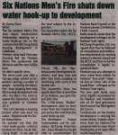 """Six Nations Men's Fire shuts down water hook-up to development"""
