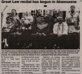 """Great Law recital has begun in Akwesasne"""