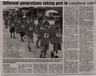 """Different generations taking part in Longboat run"""