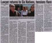 """Lawyer returns to Six Nations, tensions flare"""
