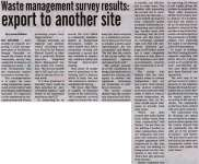 """Waste management survey results: export to another site"""