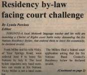 """Residency by-law facing court challenge"""