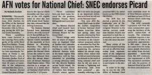 """AFN votes for National Chief: SNEC endorses Picard"""