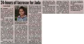 """24-hours of lacrosse for Jada"""