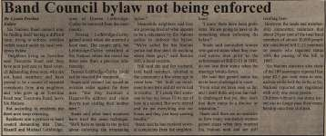 """Band council bylaw not being enforced"""