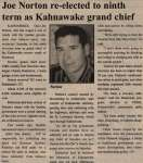 """Joe Norton re-elected to ninth term as Kahnawake grand chief"""