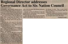 """Regional Director addresses Governance Act to Six Nation Council"""
