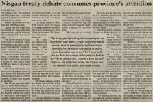 """Nisgaa treaty debate consumes province's attention"""
