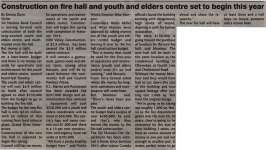 """""""Construction on fire hall and youth and elders centre set to begin this year"""""""