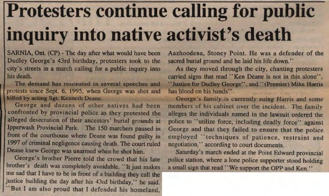 """Protesters continue calling for public inquiry into native activist's death"""