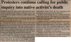 """Protesters continue calling for public inquiry into native activist's death"""