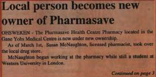"""Local person becomes new owner of Pharmasave"""
