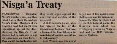 """Nisga'a Treaty"""