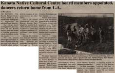 """Kanata Native Cultural Centre board members appointed, dancers return home from L.A."""