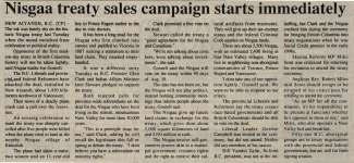 """Nisgaa treaty sales campaign starts immediately"""