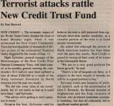 """Terrorist attacks rattle New Credit Trust Fund"""
