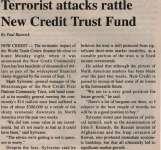 """Terrorist attacks rattle New Credit Trust Fund"""