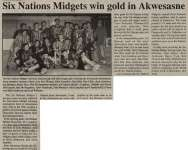 """Six Nations Midgets win gold in Akwesasne"""