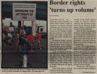 """Border rights 'turns up volume'"""