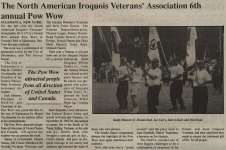"""The North American Iroquois Veterans' Association 6th annual Pow Wow"""