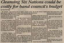 """""""Cleansing Six Nations could be costly for band council's budget"""""""
