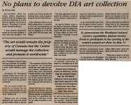 """No plans to devolve DIA art collection"""