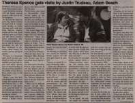 """""""Theresa Spence gets visit by Justin Trudeau, Adam Beach"""""""
