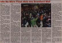 """""""Idle No More Flash Mob hits Brantford Mall"""""""