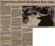 """Immersion school facilitates first class"""