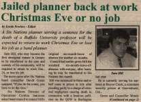 """Jailed planner back at work Christmas Eve or no job"""