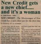"""New Credit gets a new chief.....and it's a woman"""