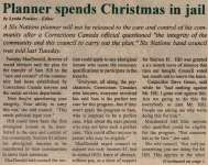 """Planner spends Christmas in jail"""