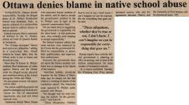 """Ottawa denies blame in native school abuse"""