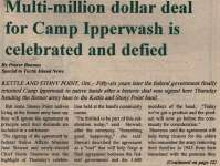 """Multi-Million dollar deal for Camp Ipperwash is celebrated and defied"""