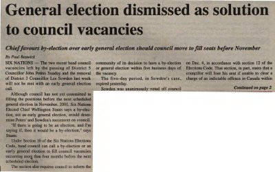 """""""General election dismissed as solution to council vacancies"""""""