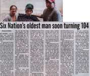 """""""Six Nations oldest man soon turning 104"""""""