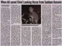 """When Ali saved Chief Looking Horse from Saddam Hussein"""