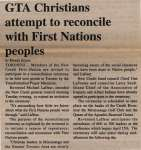 """GTA Christians attempt to reconcile with First Nations peoples"""