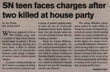 """SN Teen Faces Charges After Two Killed at House Party"""