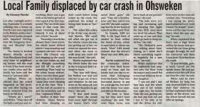 """""""Local Family displaced by car crash in Ohsweken"""""""
