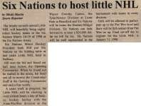 """Six Nations To Host Little NHL"""