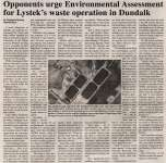 """Opponents urge Environmental Assessment for Lystek's waste operation in Dundalk"""