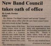 """New Band Council Takes Oath of Office"""