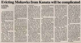 """Evicting Mohawks from Kanata will be complicated"""