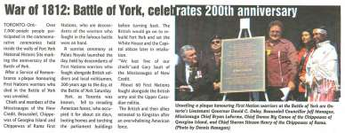 """War of 1812: Battle of York, Celebrates 200th Anniversary"""